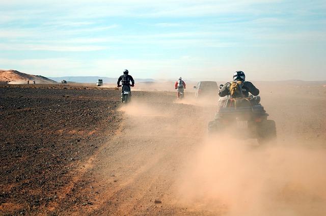 jízda na poušti